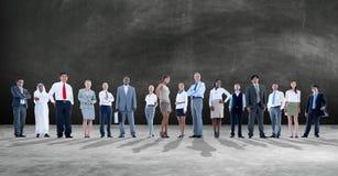 Geschäftsleute der Aspirations-Team Corporate Concept Stockbilder