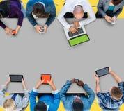 Geschäftsleute der Zusammenarbeits-Team Teamwork Professional Concept Stockfoto