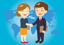 Geschäftsleute, die ein Abkommen schließen lizenzfreie abbildung