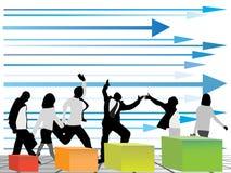 Geschäftsleute, die eine Richtung wählen Lizenzfreie Stockbilder