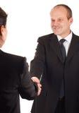 Geschäftsleute, die Hände rütteln Stockfotografie