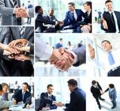 Geschäftsleute, die Hände rütteln Stockfotos
