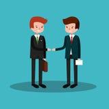 Geschäftsleute, die Hände rütteln Lizenzfreies Stockfoto