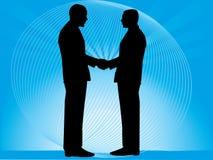 Geschäftsleute, die Hände rütteln Stockbild