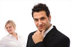Geschäftsleute, die im Team arbeiten stockbilder