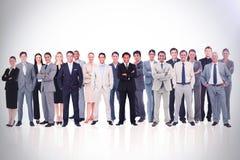 Geschäftsleute, die oben 3d stehen Stockfotos