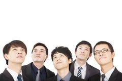 Geschäftsleute, die oben schauen Lizenzfreies Stockfoto