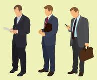 Geschäftsleute, die in Reihe warten Stockbilder