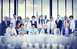 Geschäftsleute, die Team Concept treffen Stockfotos
