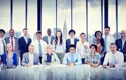Geschäftsleute, die Team Concept treffen Lizenzfreies Stockfoto