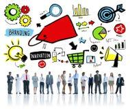 Geschäftsleute, die Team Marketing Corporate Concept brandmarken Lizenzfreie Stockfotografie