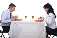 Geschäftsleute, die zu Mittag essen lizenzfreie stockfotografie