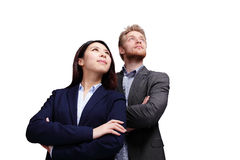 Geschäftsleute, die zur Zukunft schauen Lizenzfreie Stockbilder