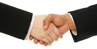 Geschäftsleute Erschütterung-Hand- Lizenzfreie Stockfotos