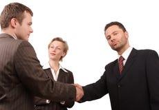 Geschäftsleute - Förderung -   Stockbild