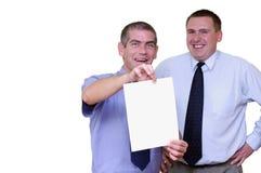 Geschäftsleute - fügen Sie Ihre Meldung hinzu Lizenzfreies Stockfoto