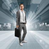 Geschäftsleute gegen Begriffshintergrund Stockbild