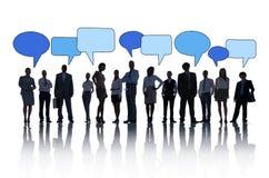 Geschäftsleute Gemeinschaftssprache-Blasen-Konzept- Lizenzfreie Stockfotos