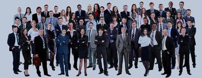 Geschäftsleute Gruppe Lokalisiert über weißem Hintergrund stockfoto