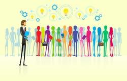 Geschäftsleute gruppieren Führer der menschlichen Ressource Lizenzfreie Stockfotografie