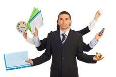 Geschäftsleute Hände, die Nachrichten anhalten Lizenzfreie Stockbilder