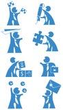 Geschäftsleute - Ikone Lizenzfreie Stockfotos