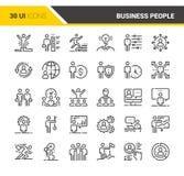 Geschäftsleute Ikonen- Stockbild