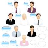 Geschäftsleute Ikonen- Lizenzfreie Stockbilder