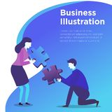 Geschäftsleute Illustrations-Vektor- lizenzfreie abbildung