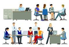 Geschäftsleute im Büro vektor abbildung