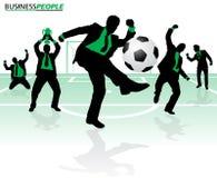 Geschäftsleute im Fußball-Erfolg vektor abbildung