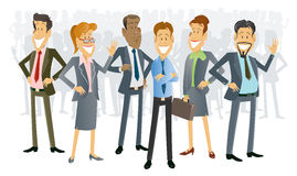 Geschäftsleute Karikatur- vektor abbildung