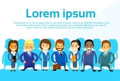 Geschäftsleute Karikatur-Gruppen-verschiedene Team- Lizenzfreies Stockbild