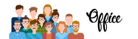 Geschäftsleute Karikatur-Zeichensatz-Mann-Frauen-Büroangestellt-Sammlungs- Lizenzfreies Stockfoto