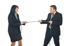 Geschäftsleute Konkurrenz stockbild