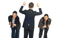 Geschäftsleute Konkurrenz stockbilder