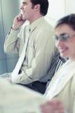Geschäftsleute Lächeln lizenzfreie stockbilder