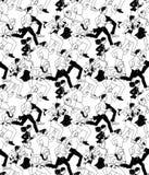 Geschäftsleute lassen nahtloses Schwarzweiss-Muster der aktiven Fördermaschine laufen Stockfotos
