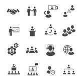 Geschäftsleute on-line-Sitzung strategisch Lizenzfreies Stockbild