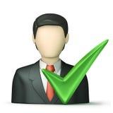 Geschäftsleute mit überprüft Lizenzfreie Stockfotos