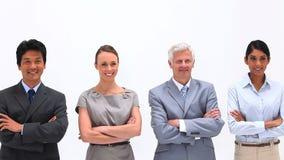 Geschäftsleute mit den Armen gekreuzt Lizenzfreie Stockfotos