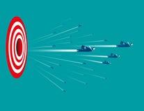 Geschäftsleute mit Zielzeichen Stockbilder