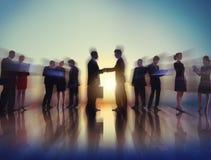 Geschäftsleute New York Sitzungs-Konzept-im Freien Lizenzfreies Stockbild