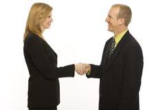 Geschäftsleute rütteln Hände Stockfoto