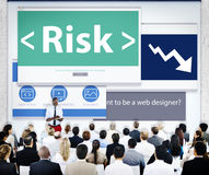 Geschäftsleute Risiko-Webdesign-Konzept- Lizenzfreie Stockbilder