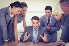 Geschäftsleute sagen die Zukunft voraus Stockfotos