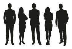 Geschäftsleute, Satz Schattenbilder stock abbildung