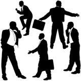 Geschäftsleute Schattenbild- Stockbilder
