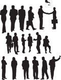 Geschäftsleute Schattenbilder Stockbild