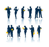 Geschäftsleute Schattenbilder Lizenzfreie Stockbilder